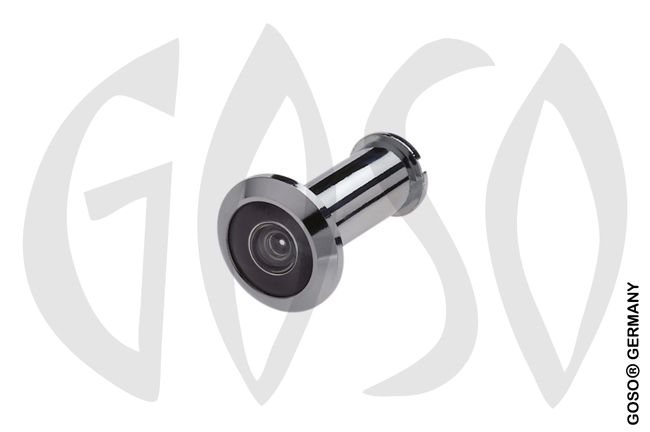 TS 680 peephole, chrome plated brass, Wide angle lens 180 B2454