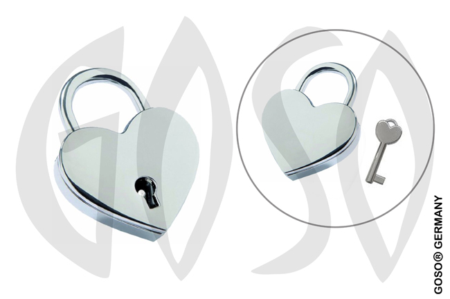 Heart padlock including 1 key. B1164