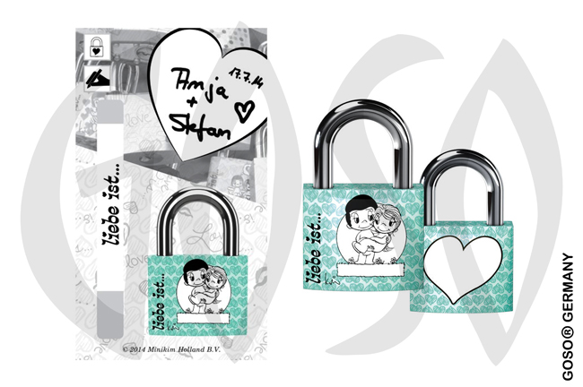 Love is... Love Lock green B0357