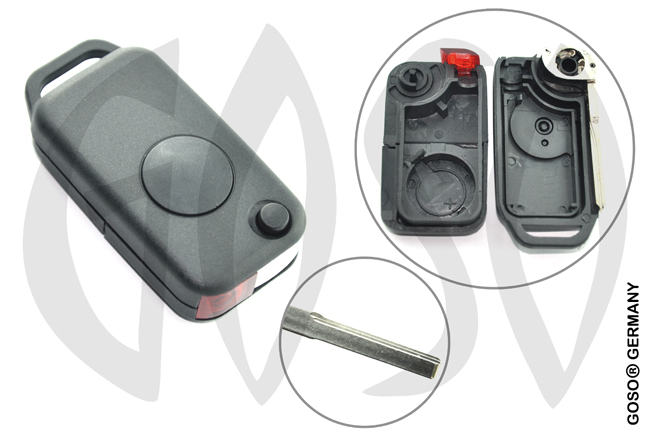 Mercedes key shell 1 button HU64  3580