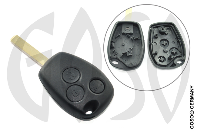 Renault remote key housing blank 3 buttons  3849