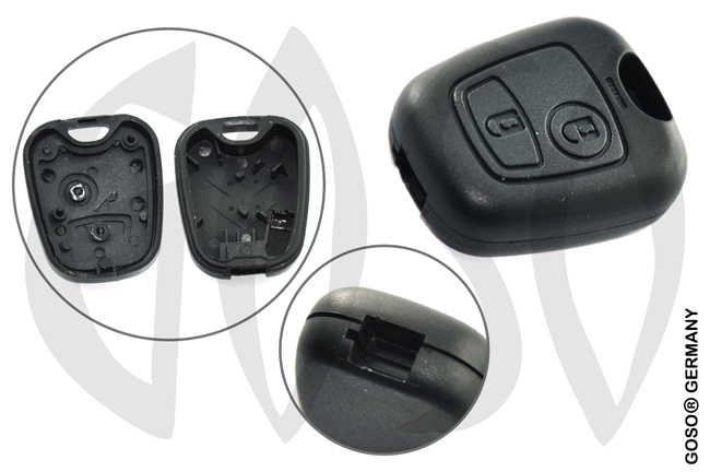 Citroen Peugeot key blank housing 2 button 5843