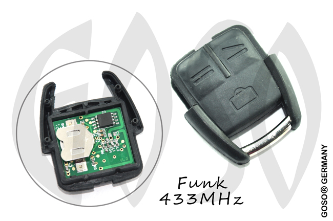 Opel Remote Key 433Mhz 3 Button 8776