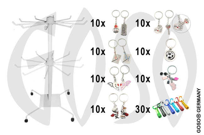 Keychain 100x and stand 8875